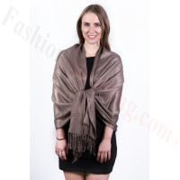 Silky Soft Solid Pashmina Scarf Mocha