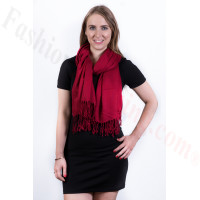 Silky Soft Solid Pashmina Scarf Burgundy