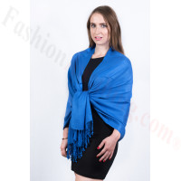 Silky Soft Solid Pashmina Scarf Royal Blue
