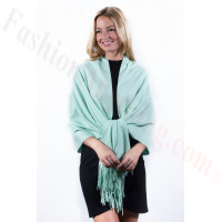 Mint Cream Premium Thick Pashmina
