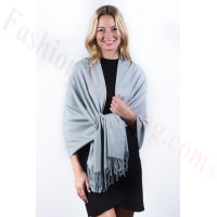 Light Grey Premium Thick Pashmina