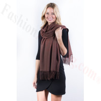 Coffee Premium Thick Pashmina