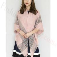 Oversized Blanket Shawls Light Pink