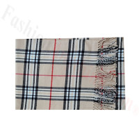 Woven Cashmere Feel Classic Scarf Light Tan