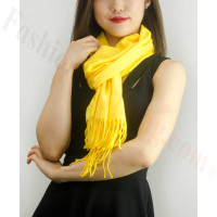 Solid Cashmere Feel Scarf Bright Yellow
