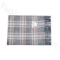 Woven Cashmere Feel Plaid Scarf Z42 Coffee