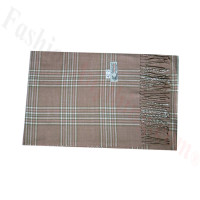 Woven Cashmere Feel Plaid Scarf Z42 Dusty Pink