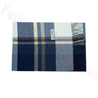 Woven Cashmere Feel Plaid Scarf Z43 Navy
