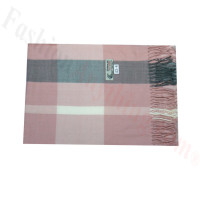 Woven Cashmere Feel Plaid Scarf Z43 Pink