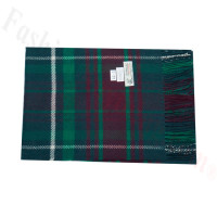 Woven Cashmere Feel Plaid Scarf Z44 Dark Green