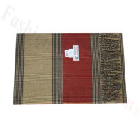Woven Cashmere Feel Plaid Scarf Z46 Beige