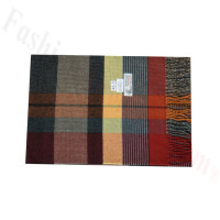 Woven Cashmere Feel Plaid Scarf Z46 Multi Red