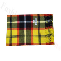 Woven Cashmere Feel Plaid Scarf Z46 Yellow/Black