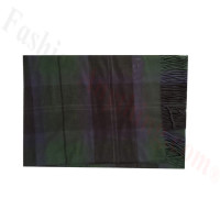 Woven Cashmere Feel Plaid Scarf Z48 Green/Black