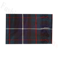 Woven Cashmere Feel Plaid Scarf Z49 Teal/Red