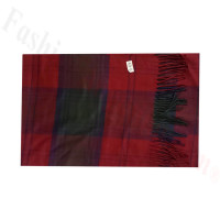 Woven Cashmere Feel Plaid Scarf Z49 Red/Green