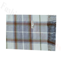 Woven Cashmere Feel Plaid Scarf Z51 Brown/Grey