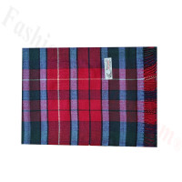 Woven Cashmere Feel Plaid Scarf Z51 Red Multi