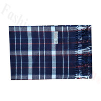 Woven Cashmere Feel Plaid Scarf Z51 Navy