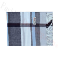 Woven Cashmere Feel Plaid Scarf Z51 Grey