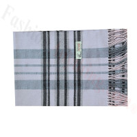 Woven Cashmere Feel Plaid Scarf Z52 L. Pink/Grey