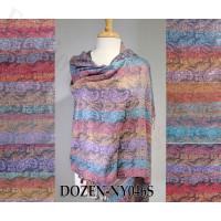 Colorful Paisley Pashmina 1 DZ, Asst. Color