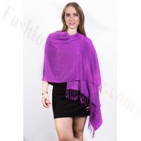 Purple Pashmina Scarf Dozen (12 Pcs)