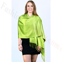 Silky Soft Solid Pashmina Scarf Apple Green NEW