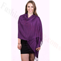 Silky Soft Solid Pashmina Scarf Grape