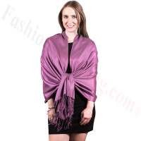 Silky Soft Solid Pashmina Scarf Medium Mauve NEW