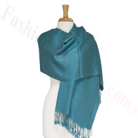 Silky Soft Solid Pashmina Scarf Light Teal