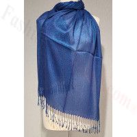 Metallic Solid Sheer Scarf Royal Blue