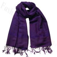 Paisley Jacquard Pashmina Dark Violet
