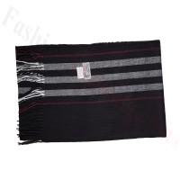 Cashmere Feel Pattern Scarf SF-318 Black