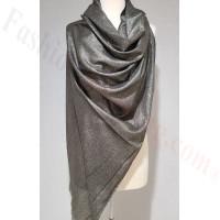 Solid Shimmer Pashmina Dark Grey