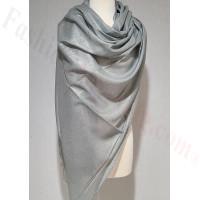 Solid Shimmer Pashmina Light Grey