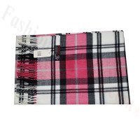 Cashmere Feel Classic Scarf Pink/White