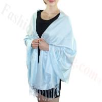 Silky Soft Solid Pashmina Scarf Sky Blue