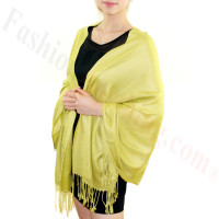 Silky Soft Solid Pashmina Scarf Golden Rod NEW
