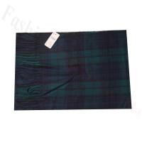 Cashmere Feel Pattern Scarf W88-6 Navy/Green