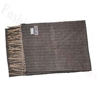Cashmere Feel Design Scarf Black/Tan