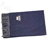 Cashmere Feel Design Scarf Navy