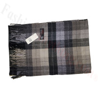 Cashmere Feel Plaid Scarf Grey