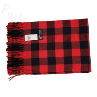 Cashmere Feel Pattern Scarf Black/Red