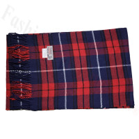 Cashmere Feel Classic Scarf Navy/Red