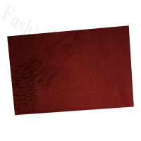 Cashmere Feel Solid Scarf Wine Red