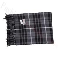 Cashmere Feel Pattern Scarf 2224 Black/Grey