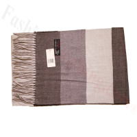 Cashmere Feel Pattern Scarf Brown