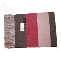 Cashmere Feel Pattern Scarf Brown/Red
