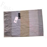 Cashmere Feel Pattern Scarf Grey